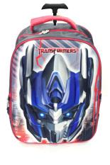Cuci Gudang Bgc Transformer Optimus Prime 3D Hard Cover Tas Troley Sekolah Anak Biru