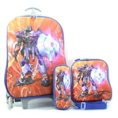 Review Bgc Transformer Optimus Prime Koper Set Troley T Lunch Box Kotak Pensil 3D Timbul Import Hard Cover Tas Anak Sekolah Bgc