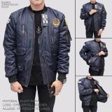Bgsr Jaket Bomber Pria Pocket Zipper Navy Bgsr Diskon
