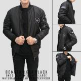 Harga Bgsr Jaket Bomber Premium Black Online Jawa Barat