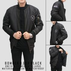 Harga Bgsr Jaket Bomber Premium Black Branded