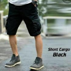 Spesifikasi Bhl Celana Cargo Pendek Pria Hitam Lengkap Dengan Harga