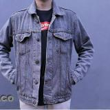 Obral Bhl New Denim Jackets Mens Jaket Denim Pria Snow Blue Murah