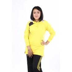 Bialy Print Polo Baju Senam Wanita muslim [Kuning]