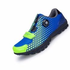 Sepeda Sepatu Modis Selip Profesional Cepat Putar Kunci Kenyamanan Sepatu Sepeda Gunung Pria & Wanita Latihan Kontes Sepatu Datar (biru) 36-44-Internasional