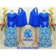 BIG SALE QUEEN Baju Muslim Certy Polos Baju Baju Muslim Agatha Syari Biru