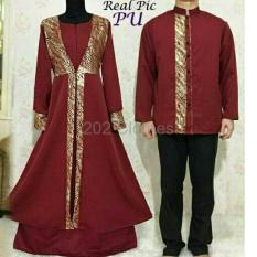 BIG SALE QUEEN Baju Muslim Maxi Couple Mewah Couple Baju Muslim Dress XL Baju Muslim Sarimbit Gold