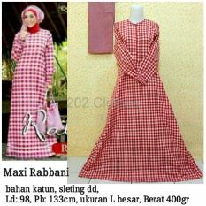 BIG SALE QUEEN Maxi Dress Katun Baju Muslim Rabbani