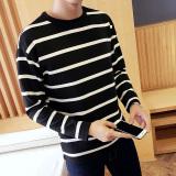 Jual Ukuran Besar Pria Baru Korea Fashion Slim T Shirt Lengan Panjang Dengan Stripes Hitam Intl Di Bawah Harga
