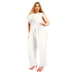 Big Ukuran Perempuan Jumpsuits Ladies Plus Size Kausal Jumpsuits Putih Oem Diskon
