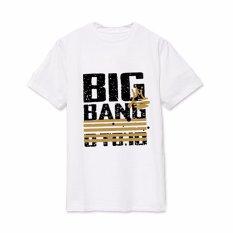 BIGBANG Korean Oversize T-shirt Unisex G-dragon Pasangan Laki-laki Berwarna Putih-Intl