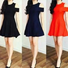 BigClothing Dress Sabrina Women - Merah