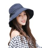 Harga Bigood Wanita Summer Wide Brim Beach Floppy Hat Lipat Bucket Sun Cap Navy Blue Intl Branded