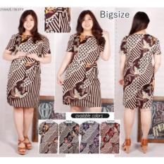 Bigsize Dress Batik Jumbo Dress Batik Big size Baju Terusan 363YY