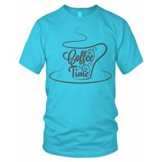 Jual Bils Kaos T Shirt Distro Coffe Time Biru Muda Baru