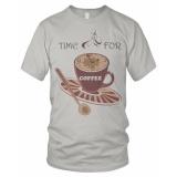 Model Bils Kaos T Shirt Distro Time For Coffe Abu Abu Muda Terbaru
