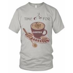 Bils Kaos T Shirt Distro Time For Coffe Abu Abu Muda Dki Jakarta