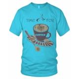Pusat Jual Beli Bils Kaos T Shirt Distro Time For Coffe Biru Muda Dki Jakarta