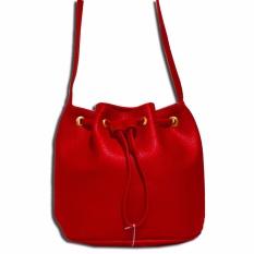 Jual Bils Promosi Tas Drawstring Bucket Bag Merah Bils Ori