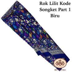 Promo Bily Shop Bali Rok Lilit Kain Kode Songket Part 1 Biru