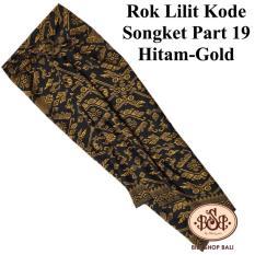 BILY SHOP BALI Rok Lilit Kain Kode Songket Part 19 Hitam-Gold