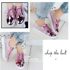 Beli Bine Sepatu Seneakers Wanita Jaring Bo70469 Lengkap