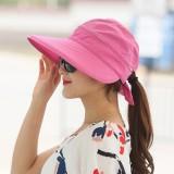 Review Pada Bisa Dilipat Pelindung Terik Matahari Musim Panas Topi Topi Merah Mawar Warna