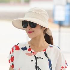 Bisa Dilipat Pelindung Terik Matahari Musim Panas Topi Topi (Warna Beras)