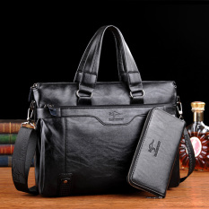 Review Kangaroo Male Sang No Leather Handbag Computer Bag Hitam Hitam Di Indonesia