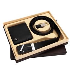 Bison Denim- Paket Dompet dan Ikat Pinggang Kulit Sapi Asli Original Bison Denim (Bison 4470-3B dan Bison 71281-2B)