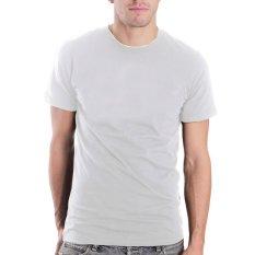 BKP Bursa Kaos Polos - Kaos Oblong Polos Murah Bp-Pe - Putih