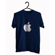 BKSPC - Kaos / T-shirt Apple - Pria dan Wanita - Biru Dongker