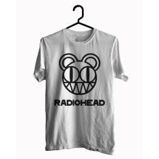 BKSPC - Kaos / T-shirt band Radiohead - Pria dan Wanita - Putih