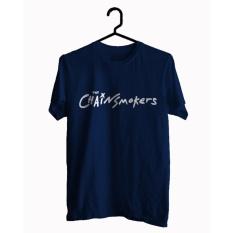 BKSPC - Kaos / T-shirt ChainsMoker - Pria dan Wanita - Biru Dongker