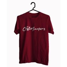 BKSPC - Kaos / T-shirt ChainsMoker - Pria dan Wanita - Merah Maroon
