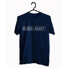 BKSPC - Kaos / Tshirt BODO AMAT - Pria dan Wanita - Biru Dongker