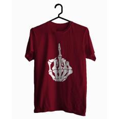 BKSPC - Kaos / Tshirt Tengkorak Tangan - Pria dan Wanita - Merah Marun