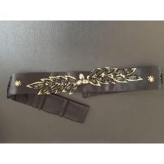 Black & Gold Leaf Belt