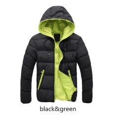 Hitam Hijau Pria Jaket Bulu Angsa Sambatan 2017 Baru Tiba Musim Gugur Jaket Bulu Halus Musim Dingin Berkerudung Jaket Musim Dingin untuk Pria Fashion Mens Bersama Pakaian Mantel Ukuran Lebih- internasional