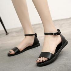 Hitam Musim Panas Fashion Wanita Sandal untuk Wanita Ibu Sepatu Perawat Sepatu Flat Maternity Sepatu Wanita Sandal A318-Intl