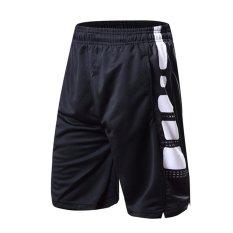 Black/White Two Tone Kinerja Latihan Shorts Pria Kobe Basketball Shorts dengan Kantong Samping-Intl
