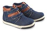 Jual Blackkelly Lbu 458 Sepatu Boots Anak Laki Laki Jeans Pvc Sol Tpr Bagus Biru Blackkelly Grosir