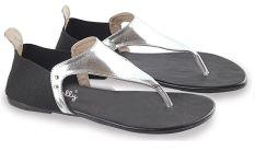Blackkelly LDG 937 Sandal Flat Wanita PU-PVC Sol Karet Bagus (Hitam Silver)