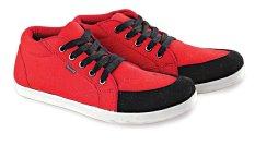 Jual Blackkelly Lid 915 Sepatu Sneaker Anak Laki Laki Canvas Sol Tpr Menarik Merah Hitam Ori