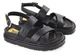 Toko Blackkelly Lrn 020 Sandal Flat Wanita Pu Pvc Sol Spon Bagus Hitam Lengkap