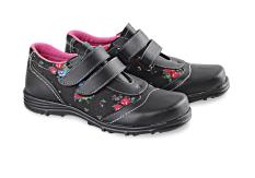 Beli Blackkelly Sepatu Anak Perempuan Sneakers Black Flowers Hitam Online Terpercaya