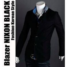 BLAZER BLACK COCO Blazer Jas Casual Koko Jasko Model baru Pria Cowok