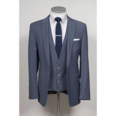 Blazer Jas Pria Slim Fit Modern Plus Vest