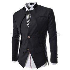 Spesifikasi Blazer Pria Elegant Mens Korean Suit Hitam Terbaik