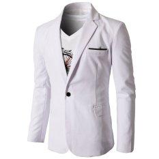 Blazer Pria - Jas Pria Almamater Style - Putih